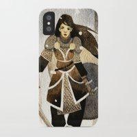 warrior iPhone & iPod Cases featuring Warrior by Pauliina Hannuniemi