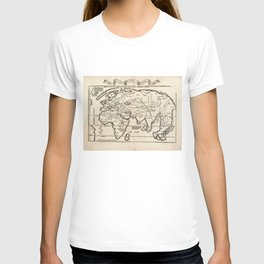 Vintage Map of The World (1522) T-shirt