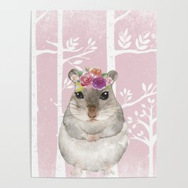 Animals in Forest - The little Hamster Poster
