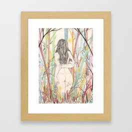 moments of silence Framed Art Print