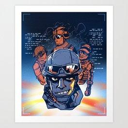 Squad Up Art Print