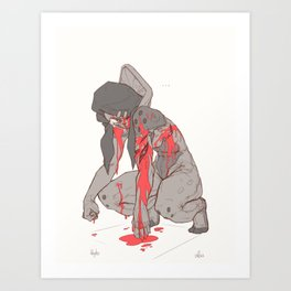 Anger (Salamander Profile) Art Print