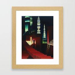Mysterious City Framed Art Print