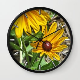 Black-eyed Susans and a Busy Bee Wall Clock