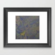 Blue matter Framed Art Print