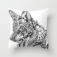 dreamer Throw Pillows featuring Dreamer by René Campbell