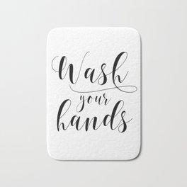 Bathroom Printable, Wash Your Hands, home decor, Bathroom Sign, Bathroom Art, Bathroom Rules Bath Mat