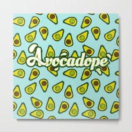 Avocadope pattern Metal Print