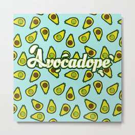 Avocadope pattern Metal Print
