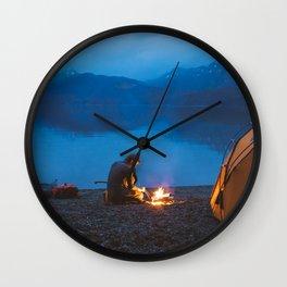 Camp on North Sea Island Wall Clock