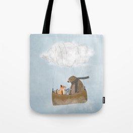 the cloud balloon Tote Bag