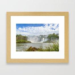 Waterfalls Landscape at Iguazu Park Framed Art Print
