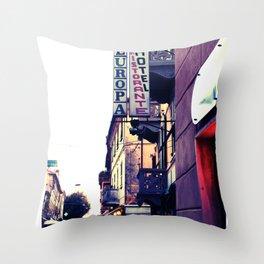 Hotel Europa Throw Pillow