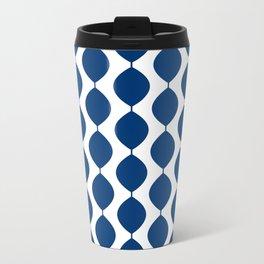 Retro 60s Waves Blue-Dark Travel Mug