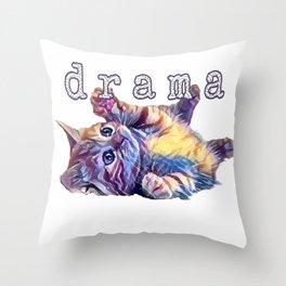 Kitten drama Throw Pillow