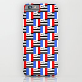 Mix of flag: france and brittany iPhone Case