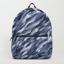 Blue + Gray brushstrokes Rucksack