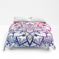 Inner Peace Red Purple Blue Mandala Comforters