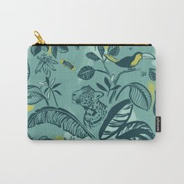 Jungle Scene Green Carry-All Pouch