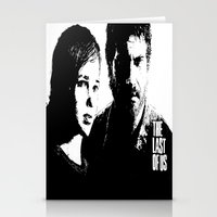 the last of us Stationery Cards featuring The Last of Us  by Black And White Store