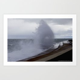 A Gale to Blow Out the Year #3 (Chicago Waves Collection) Art Print