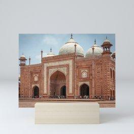 Taj Mahal Mosque Mini Art Print