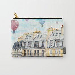 Architecture Paris and air balloon watercolor Carry-All Pouch