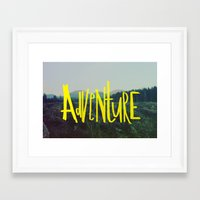 adventure Framed Art Prints featuring Adventure by Leah Flores