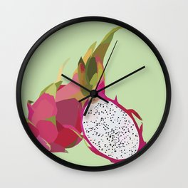 Geo Dragon Fruit Wall Clock