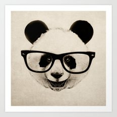 Panda Head Too Art Print
