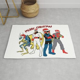 Space Ghost Coast to Coast Merry Christmas Happy Holidays Gift Rug