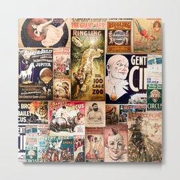 Circus Collage Metal Print