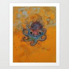 Baby Octopus Art Print