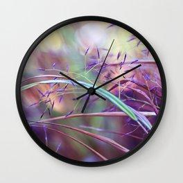 pretty grasses Wall Clock
