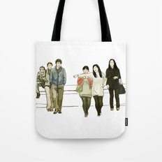 street crossing Tote Bag
