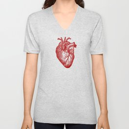 Vintage Heart Anatomy Unisex V-Neck