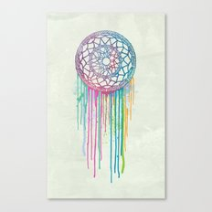 Watercolor Dream Catcher Canvas Print