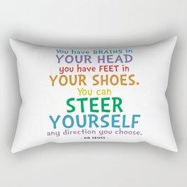 Brains & Feet Quote - Dr Seuss Rectangular Pillow