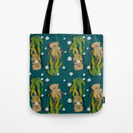 Significant otters teal Tote Bag
