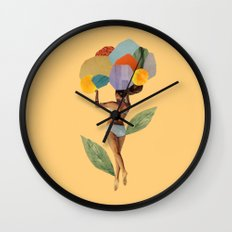 i walk out in the flowers and feel better Wall Clock