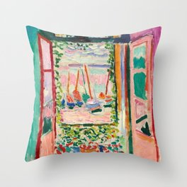 Open Window by Henri Matisse Throw Pillow