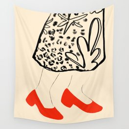 Little Red Wall Tapestry