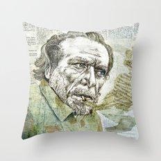 Charles Bukowski Throw Pillow