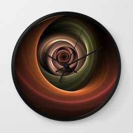 Fractal Depth And Warmth Wall Clock