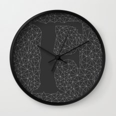 Light Letter F Wall Clock