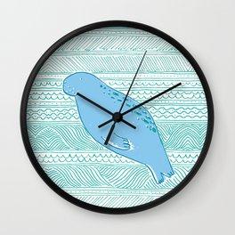 Manatees are Rotund Sea-Mammals Wall Clock