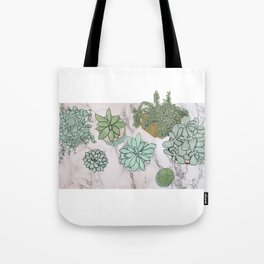 mixed succulents Tote Bag
