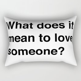 What Does It Mean Rectangular Pillow
