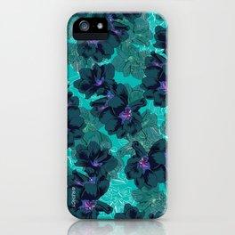 Hibiscus Blue iPhone Case