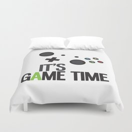 It's Game Time Duvet Cover